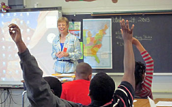 Gail in the classroom